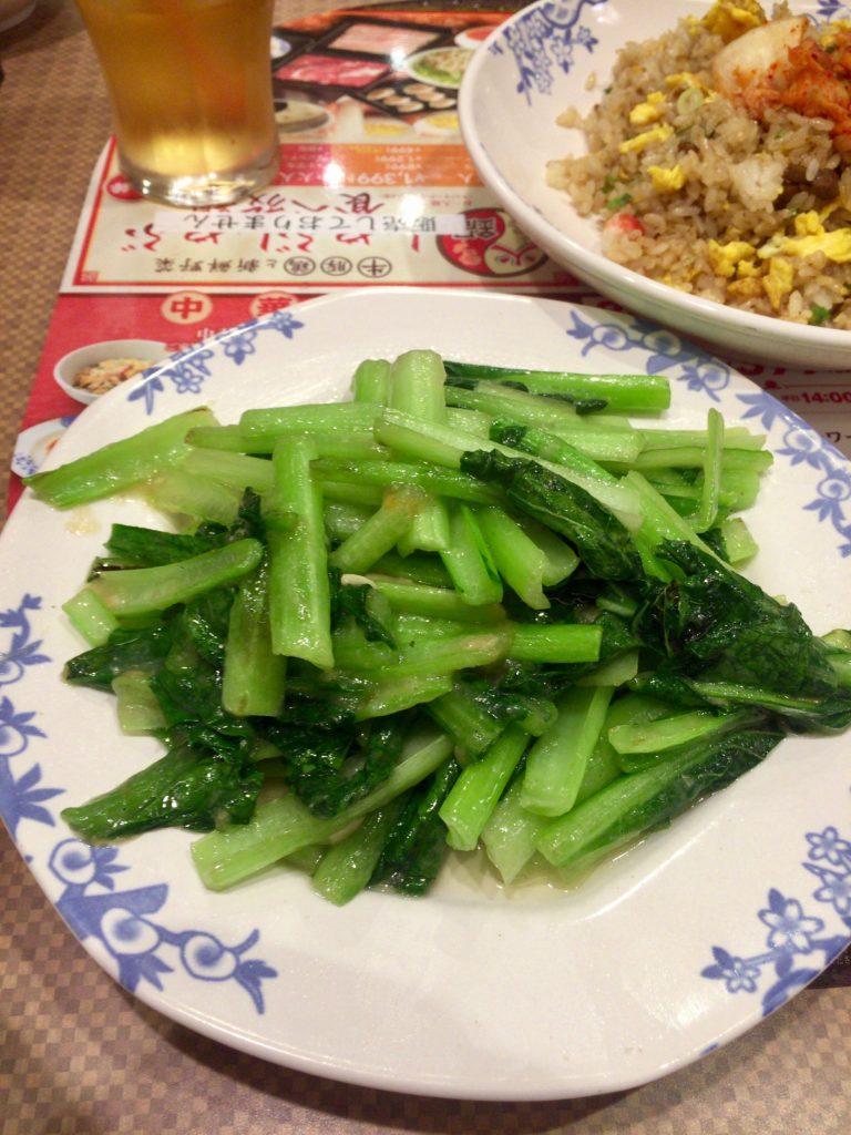 青菜のにんにく炒め