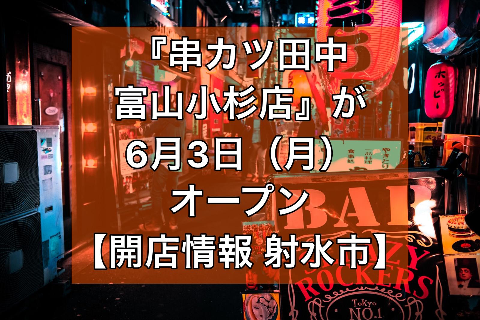 串カツ田中富山小杉店