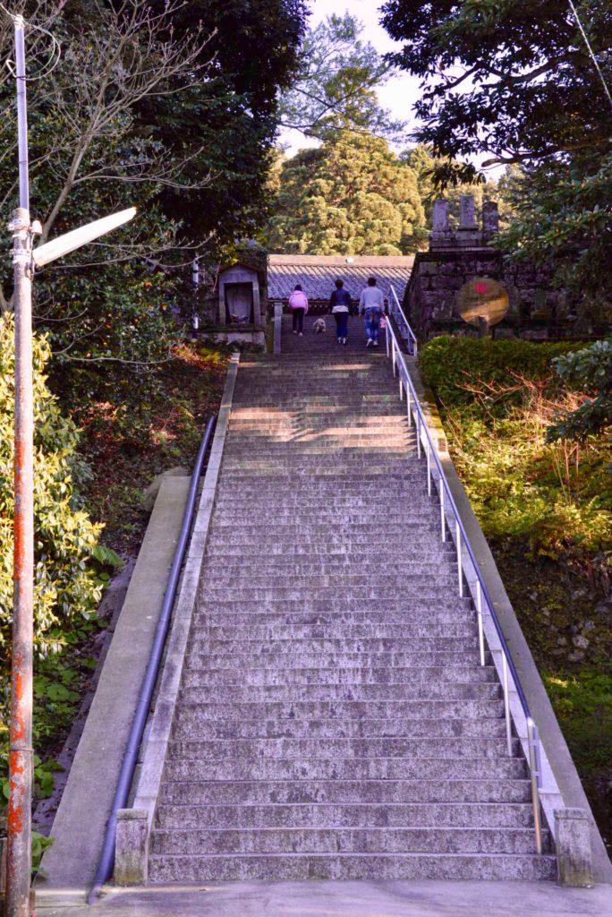 護国寺の階段