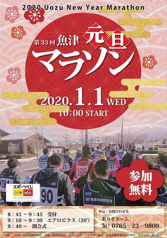 魚津元旦マラソン2020